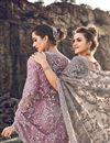 photo of Dark Beige Designer Net Fabric Occasion Wear Embroidered Saree