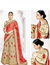 photo of Wedding Function Wear Fancy Cream Color Designer Lehenga Saree