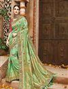 image of Wedding Function Wear Designer Green Color Fancy Saree