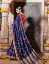 photo of Party Wear Blue Color Fancy Designer Embellished Saree