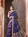 image of Designer Sangeet Wear Blue Color Fancy Embroidered Saree