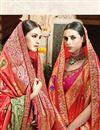 photo of Designer Sangeet Wear Orange Color Fancy Embroidered Saree