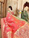photo of Designer Reception Wear Pink Color Embellished Fancy Saree