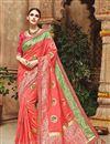 image of Designer Reception Wear Pink Color Embellished Fancy Saree