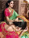 photo of Wedding Function Wear Fancy Green Color Embroidered Saree