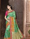 image of Wedding Function Wear Fancy Green Color Embroidered Saree