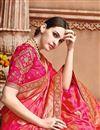 photo of Designer Sangeet Wear Pink Color Fancy Embroidered Saree