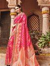image of Designer Sangeet Wear Pink Color Fancy Embroidered Saree