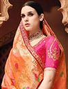 photo of Wedding Wear Fancy Orange Color Embroidered Saree