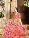 photo of Fancy Function Wear Pink Color Designer Embroidered Saree