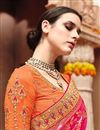 photo of Designer Sangeet Wear Rani Color Fancy Embroidered Saree