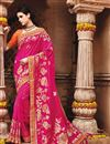 image of Party Wear Rani Color Fancy Designer Embellished Saree