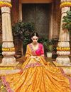 photo of Designer Sangeet Wear Yellow Color Fancy Embroidered Saree