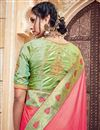photo of Traditional Silk And Jacquard Fabric Fancy Pink Color Wedding Function Wear Designer Saree