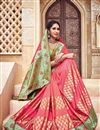 image of Traditional Silk And Jacquard Fabric Fancy Pink Color Wedding Function Wear Designer Saree