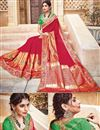 photo of Designer Party Wear Red Color Traditional Silk And Jacquard Fabric Fancy Saree