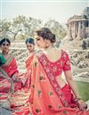 photo of Wedding Special Art Silk Designer Traditional Embroidery Work Pink Saree