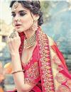 photo of Art Silk Embroidery Work Fancy Designer Pink Saree