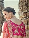 photo of Eid Special Pink Handwork Embroidered Art Silk Fancy Lehenga Choli