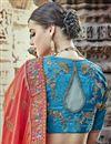 photo of Eid Special Handwork Embroidered Orange Designer Lehenga