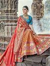 image of Eid Special Handwork Embroidered Orange Designer Lehenga
