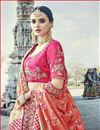 photo of Art Silk Handwork Embroidered Work Designer Lehenga