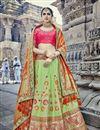 image of Eid Special Handwork Embroidered Work Art Silk Lehenga Choli