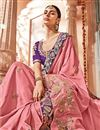 photo of Art silk Pink Function Wear Saree With Embroidery Work And Astounding Blouse