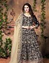 image of Gorgeous Designer Black Color Anarkali Salwar Kameez With Embroidery Work
