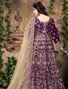 photo of Purple Color Dazzling Banglori Silk Anarkali Suit With Embroidery Work