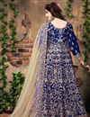 photo of Glamorous Blue Color Festive Wear Anarkali Salwar Kameez In Banglori Silk Fabric
