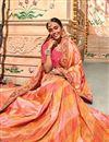 photo of Festive Special Salmon Banarasi Silk Festive Wear Saree With Border Work And Designer Blouse