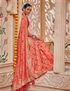 photo of Festive Special Border Work Salmon Occasion Wear Banarasi Silk Saree With Designer Blouse