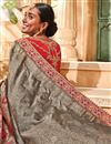photo of Saree In Grey Georgette Fabric With Border Work And Attractive Blouse
