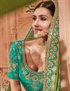 photo of Wedding Function Wear Sea Green Art Silk Fabric Fancy Lehenga Choli