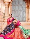 photo of Best Selling Salmon Color Designer Wedding Wear Art Silk Fabric Embroidered Lehenga