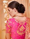 photo of Best Selling Sangeet Wear Pink Art Silk Fabric Designer Embellished Lehenga