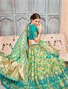 photo of Best Selling Wedding Wear Designer Embroidered Lehenga In Sea Green Art Silk Fabric