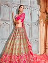 photo of Designer Wedding Wear Art Silk Fabric Embroidered Lehenga
