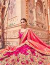 photo of Eid Special Wedding Function Wear Rani Color Fancy Lehenga Choli