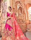 image of Best Selling Wedding Function Wear Rani Color Fancy Lehenga Choli