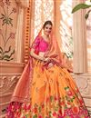 photo of Designer Wedding Wear Art Silk Fabric Embroidered Lehenga
