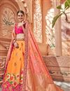 image of Eid Special Designer Wedding Wear Art Silk Fabric Embroidered Lehenga