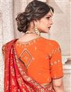 photo of Function Wear Fancy Fabric Designer Traditional Saree In Red Color