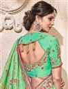 photo of Traditional Wedding Wear Fancy Fabric Saree In Sea Green