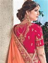photo of Salmon Embroidery Work On Fancy Fabric Reception Wear Saree With Charming Blouse