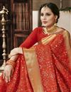 photo of Red Art Silk Fancy Weaving Work Traditional Function Wear Saree