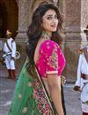 photo of Designer Multi Color Embroidered Silk Fabric Wedding Function Wear Lehenga Choli