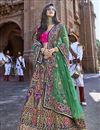 image of Designer Multi Color Embroidered Silk Fabric Wedding Function Wear Lehenga Choli