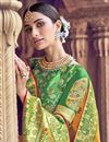 photo of Traditional Wear Silk Fabric Designer Weaving Work Saree With Heavy Blouse In Yellow